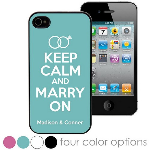 Keep Calm and Marry On Personalized iPhone Case
