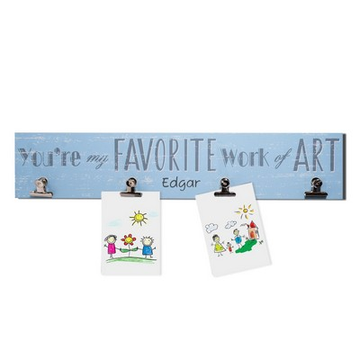 Kids Favorite Art Personalized Blue Wall Display For Boys