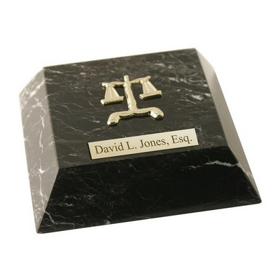 Personalized Legal Marble Paperweight