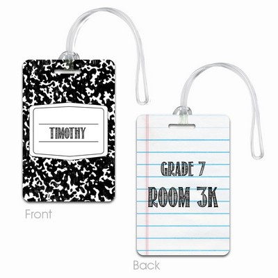 Personalized Composition Book Name Tag