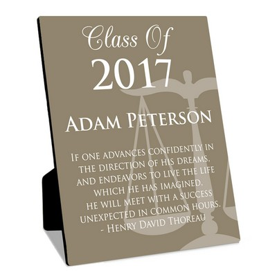 Law School Graduate Personalized 8x10 Plaque with Easel