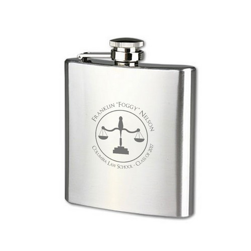 Law School Graduate Personalized Flask
