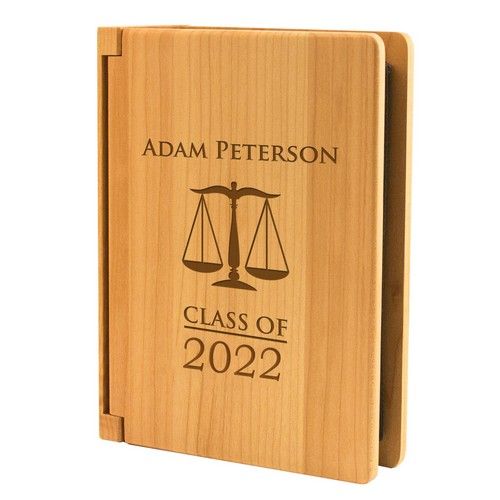 Law School Graduation Personalized 4x6 Wood Photo Album