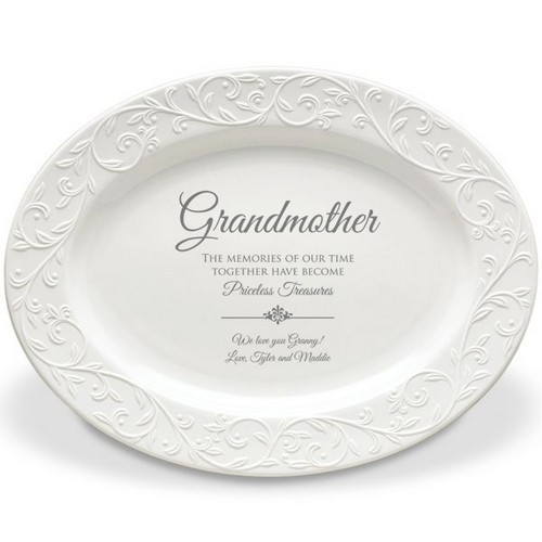 Fine Lenox Personalized Oval Platter for Grandmother