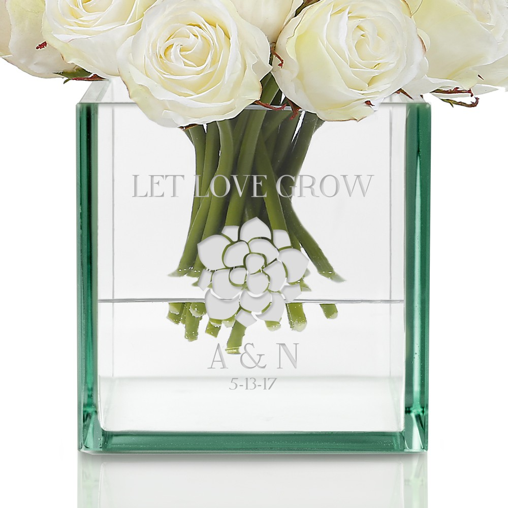 personalized flower clear frosted listing fullxfull vase engraved memorial white il glass sea filler