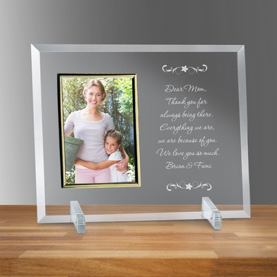 "Letter to Mom 4"" X 6"" Glass Personalized Photo Frame"