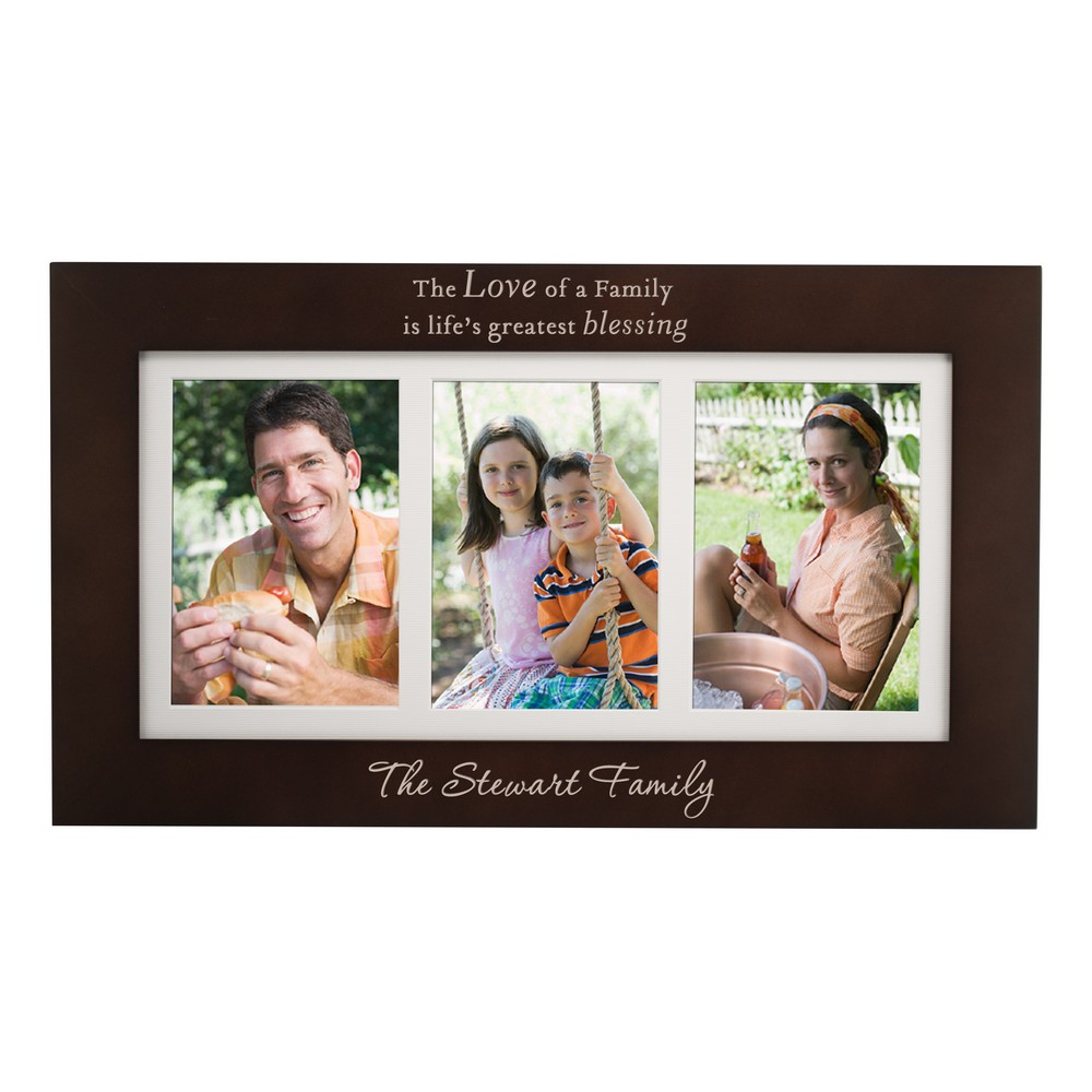 Life Blessings Personalized Triple 5x7 Family Picture Frame