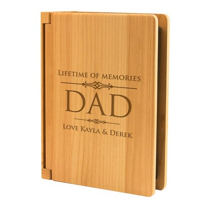 Lifetime of Memories Maple Wood 4x6 Photo Album for Dad