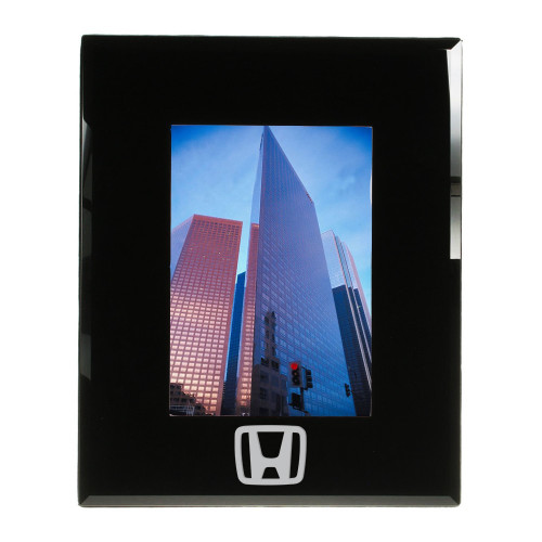 Logo Engraved Black Glass 5x7 Frame