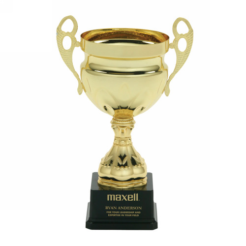Lombardi Personalized Gold Metal Cup