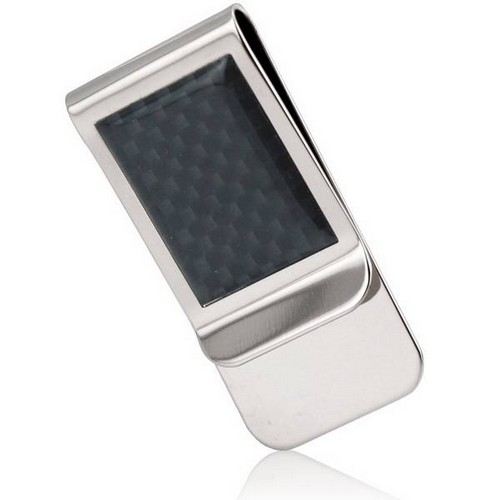 Metal Money Clip with Carbon Fiber Look