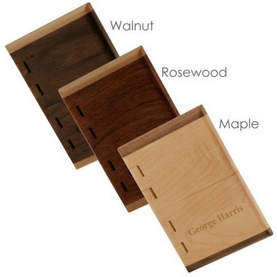 Handcrafted Wooden Business Card Case