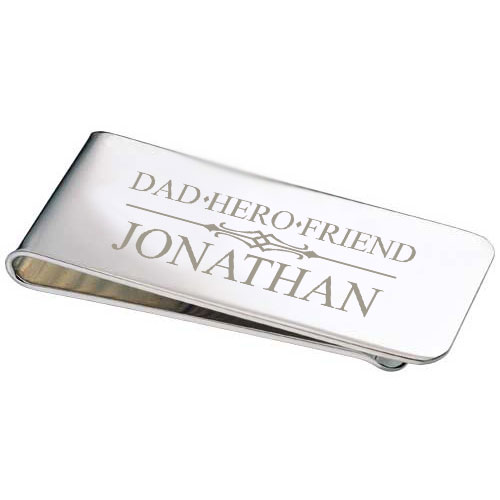 Silver Dad Money Clip