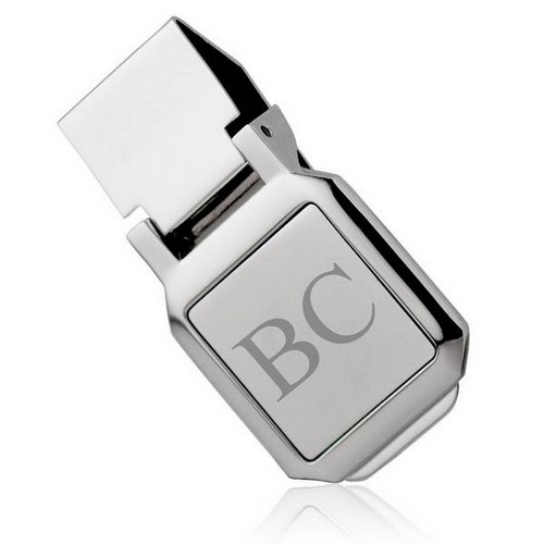 Square Silver Plated Money Clip