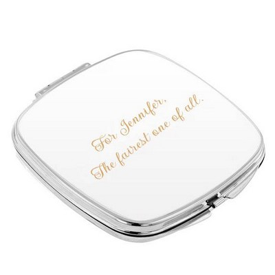 Simply Silver Purse Mirror
