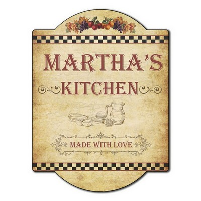 Made With Love Personalized Kitchen Wall Sign