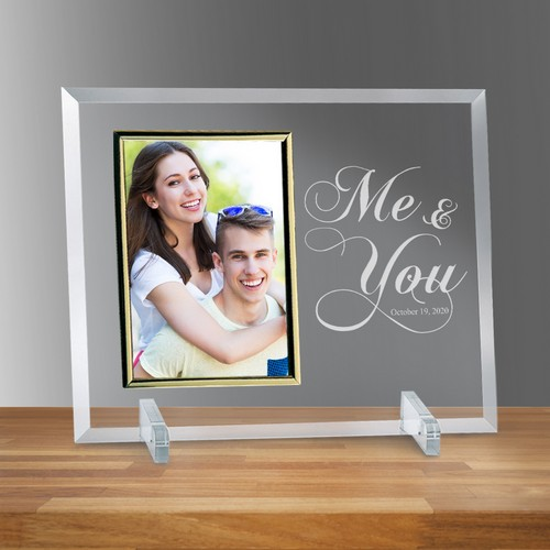 Me and You Curved Glass Personalized Photo Frame