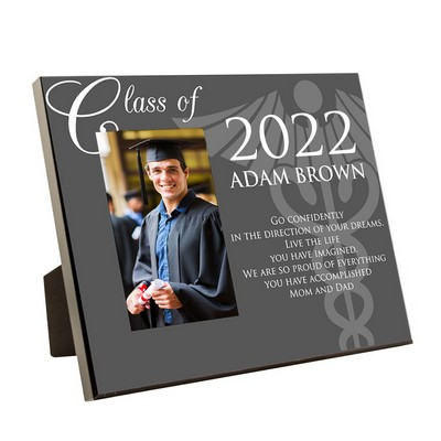 Medical School Graduation Personalized 4x6 Picture Frame with Caduceus