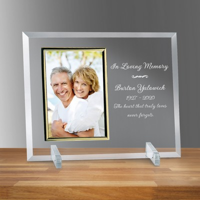 "Memorial Glass Vertical 5"" X 7"" Personalized Photo frame"