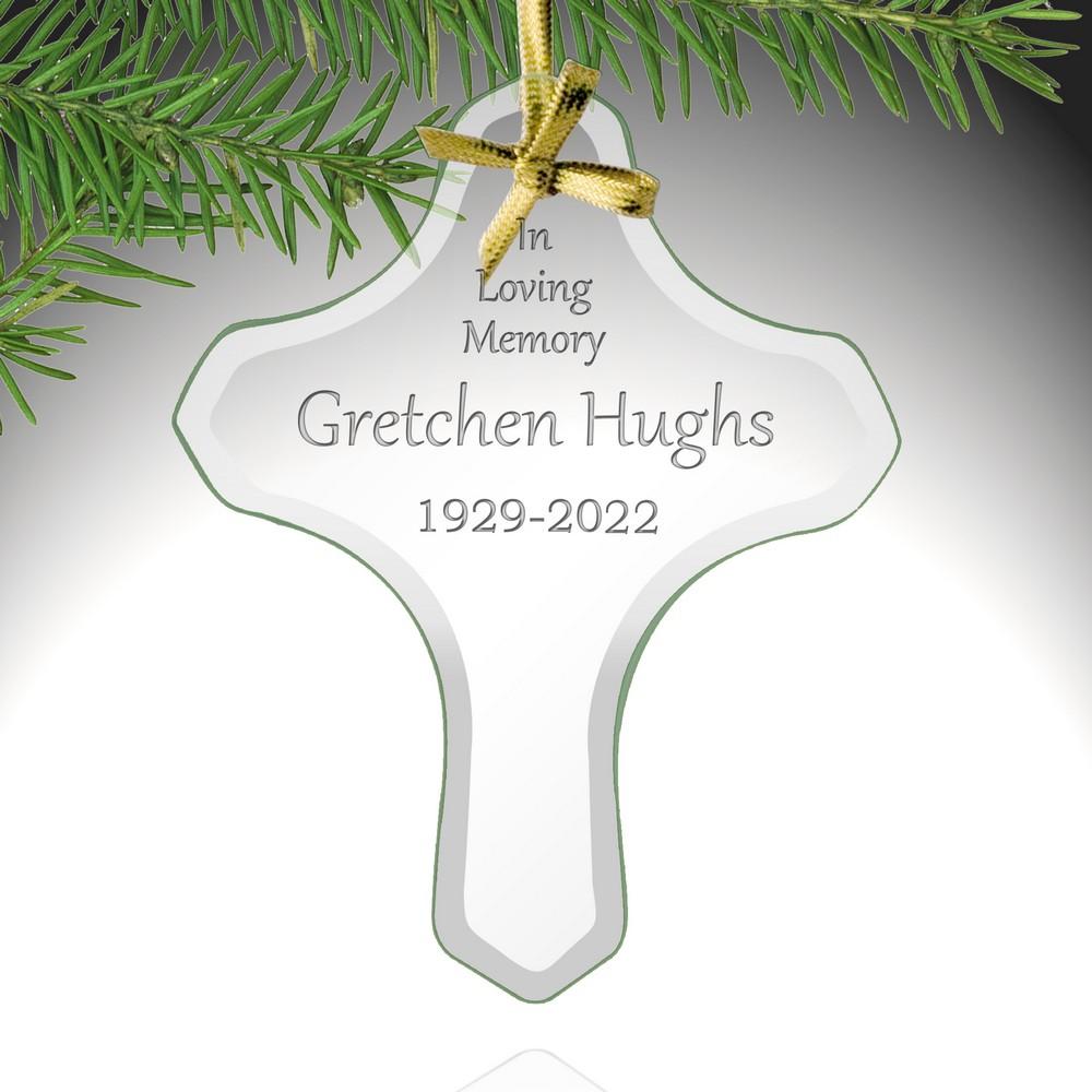 Memorial Personalized Cross Ornament