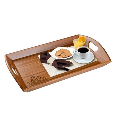 Monogrammed 23x15 inch Bamboo Serving Tray