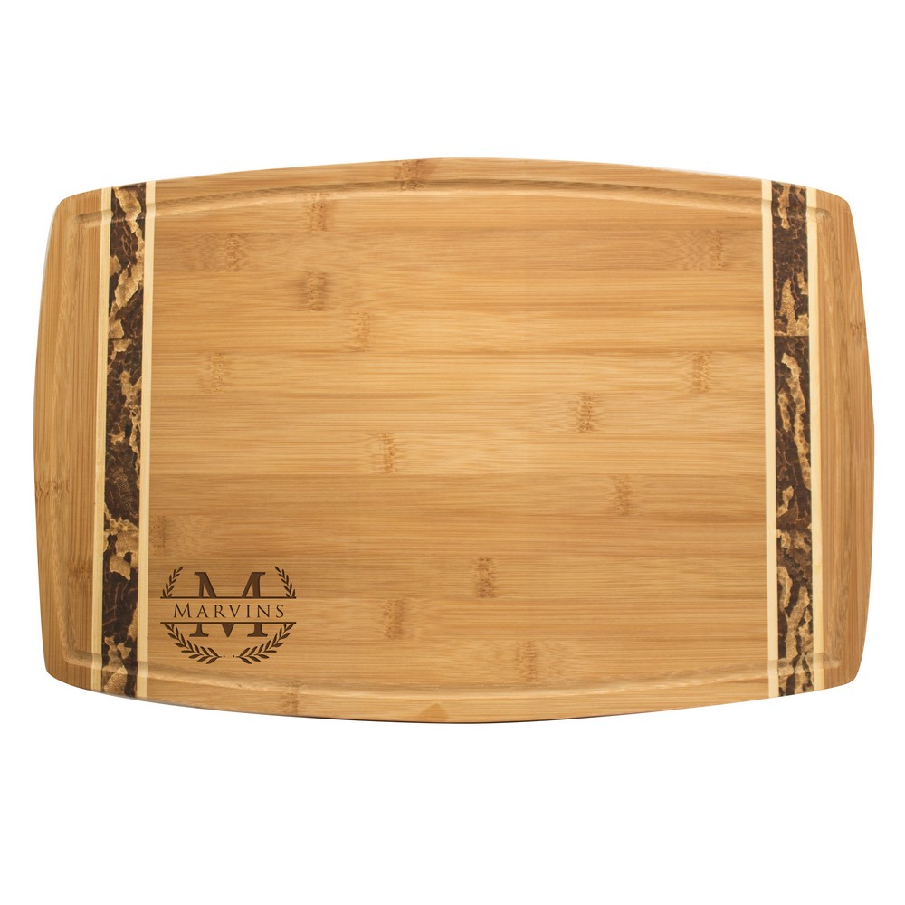 Personalized Cutting Board Names Last Name Date Chopping Board Large Flat Serving Tray Eco Friendly Bamboo