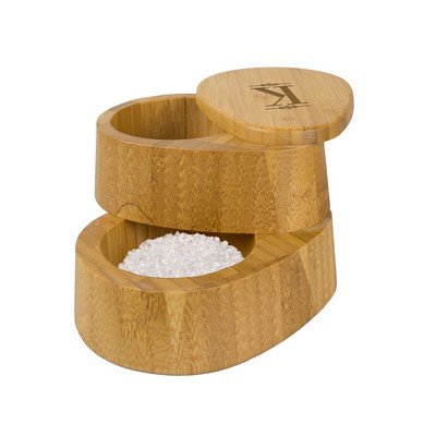 Monogrammed Bamboo Double Salt Box