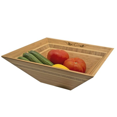 Monogrammed Bamboo Fruit Bowl