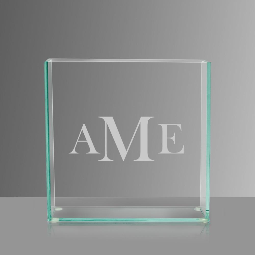 modern glass vase - monogrammed modern glass vase