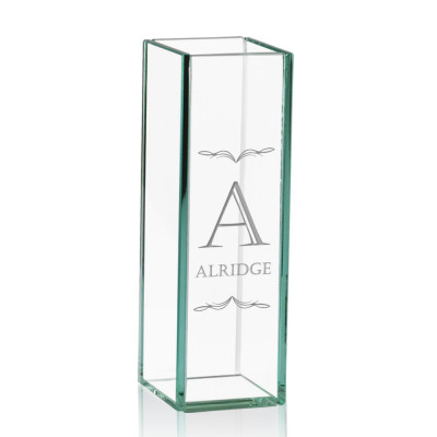 Personalized Tall Glass Flower Vase
