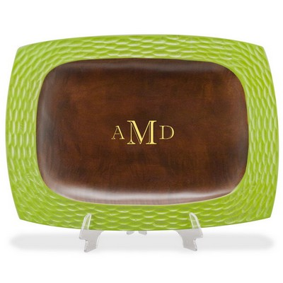 Monogrammed Wooden Tray