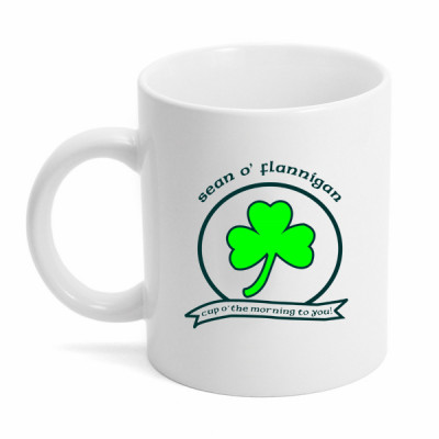 Morning Cup Personalized Irish Coffee Mug