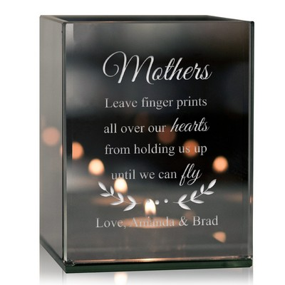 Mothers Personalized Reflective Tealight Candle Holder