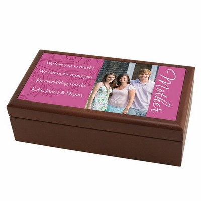 Mothers Photo Personalized Keepsake Box