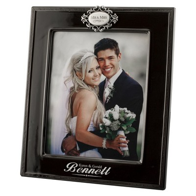 Mr and Mrs Engraved 8x10 Wedding Photo Frame