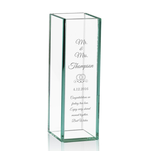 Mr and Mrs Personalized Tall Glass Vase