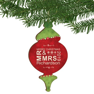 Mr and Mrs Personalized Vintage Christmas Ornament
