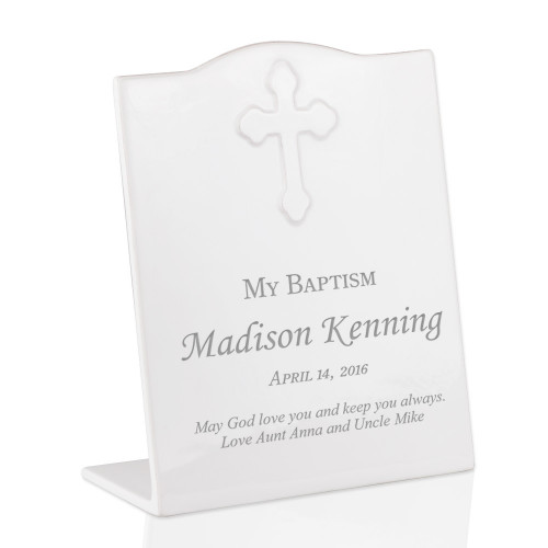 My Baptism Personalized Ceramic Keepsake Plaque