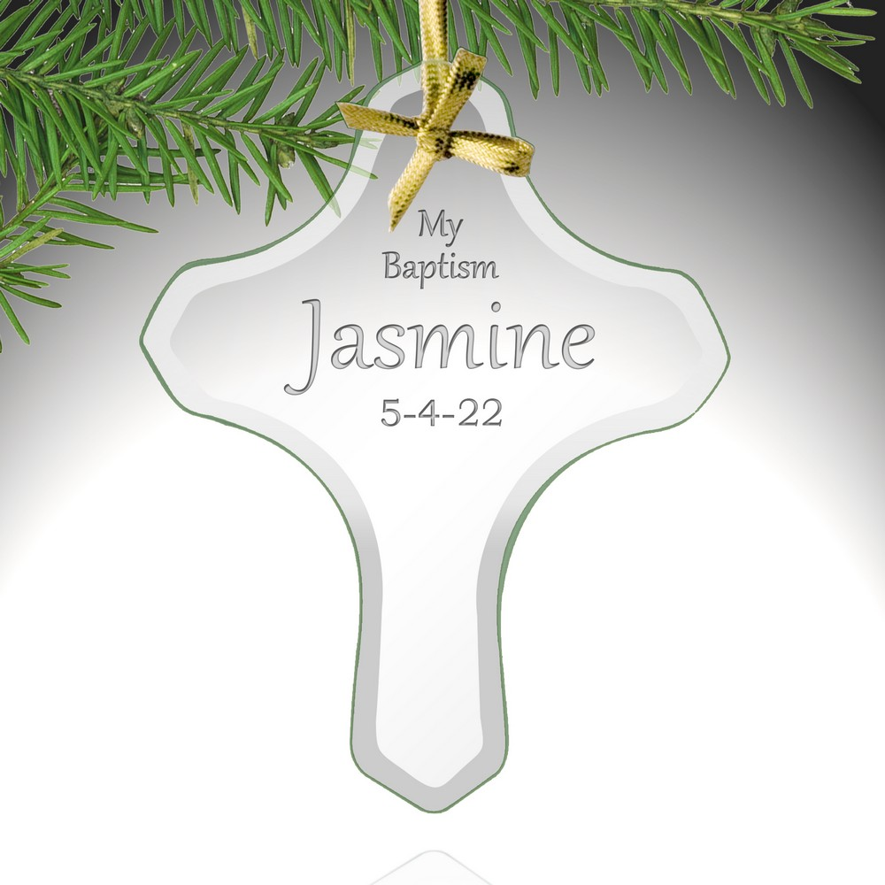 My Baptism Personalized Cross Ornament