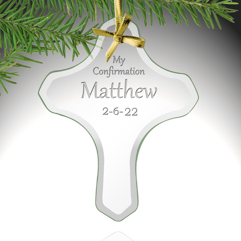 Cross Ornament For Girl Or Boy: My Confirmation Personalized Cross Ornament