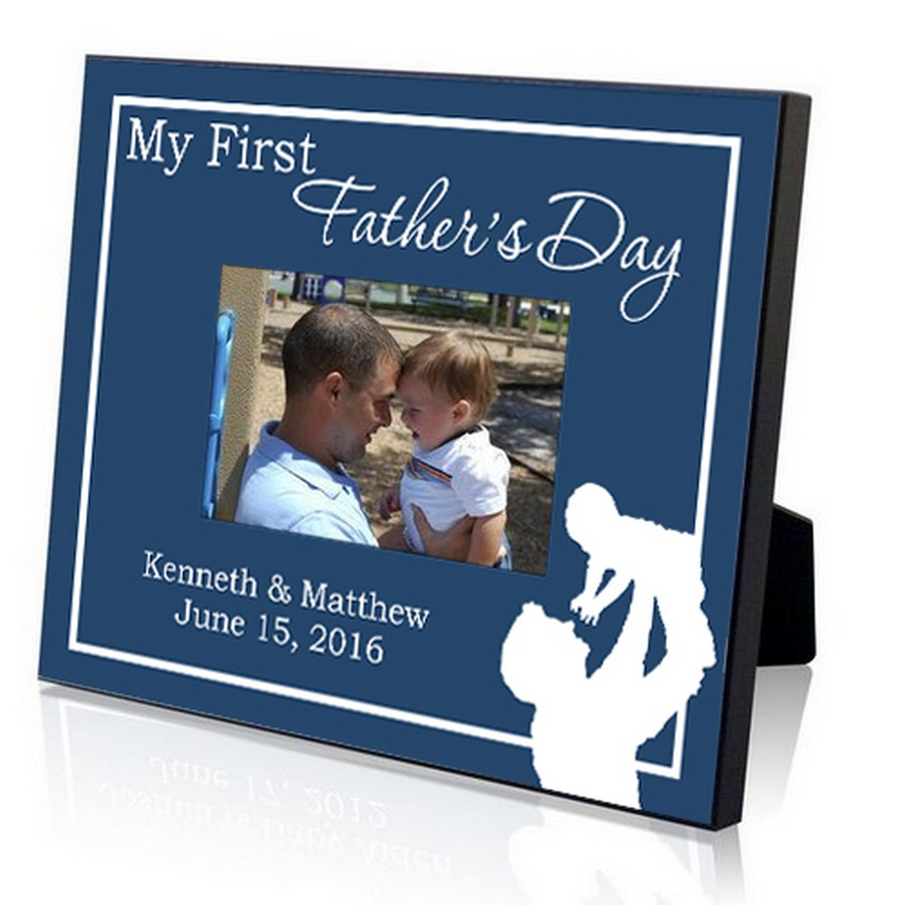 my first fathers day personalized picture frame