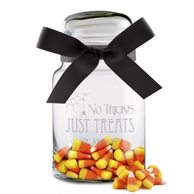 No Tricks Just Treats Personalized Candy Jar