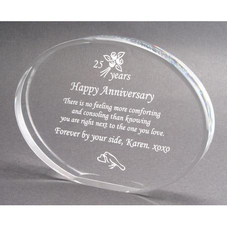 Elegant Elliptical Anniversary Gift Plaque
