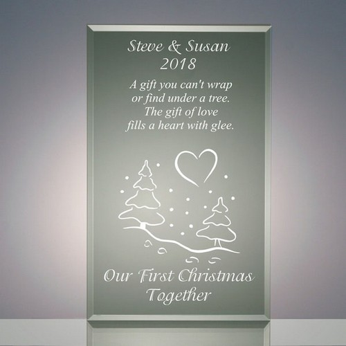 Our First Christmas Together Jade Acrylic Gift Plaque