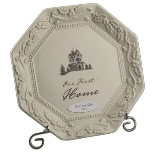 Our First Home Personalized Keepsake Plate