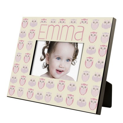 Owl Pattern Personalized Girls 4x6 Frame