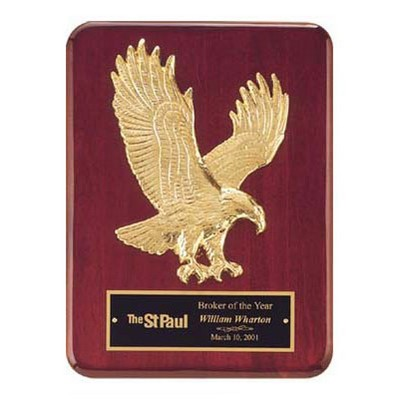 Rosewood Stained Piano Finish Eagle Plaque