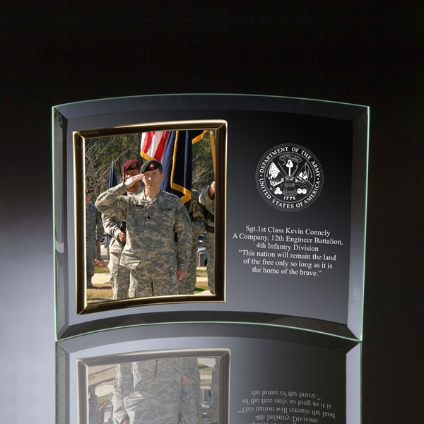Curved Military Army Glass Photo Frame