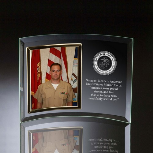 Marines Glass Vertical 5x7 Photo frame
