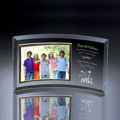 Grandchildren Curved Glass Horizontal 5x7 Photo frame